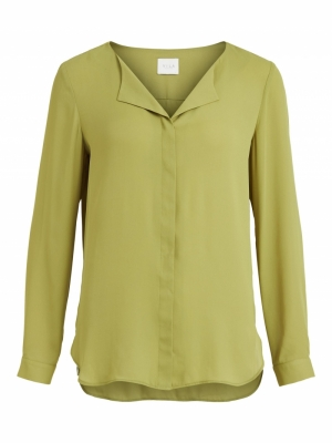 VILUCY L-S SHIRT - NOOS Green Olive