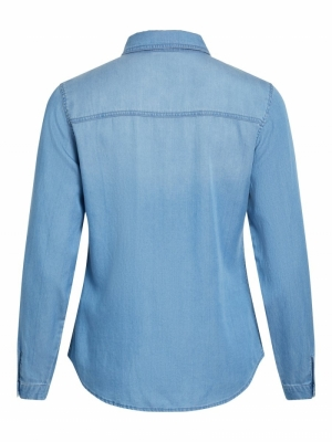 VIBISTA DENIM SHIRT-NOOS Medium Blue Den