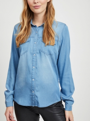 VIBISTA DENIM SHIRT-NOOS logo