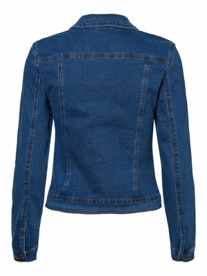 VMHOT SOYA LS DENIM JACKET MIX Medium Blue Den