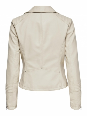 onlGEMMA FAUX LEATHER BIKER OT Peyote