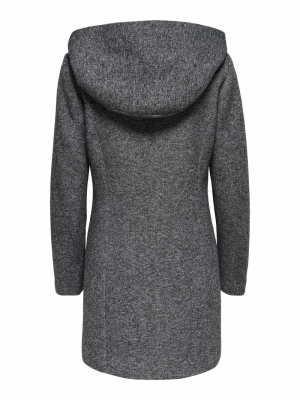 ONLSEDONA LIGHT COAT OTW NOOS Dark Grey Melan