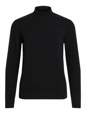 VIRIL L-S TURTLENECK KNIT TOP- logo