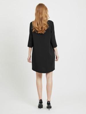 VINATHALIA 3-4 SLEEVE DRESS - Black