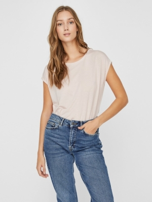 VMAVA PLAIN SS TOP GA NOOS Sepia Rose