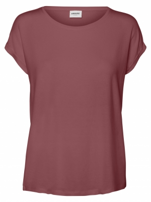 VMAVA PLAIN SS TOP GA NOOS Rose Brown