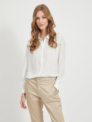 VILUCY L-S BUTTON SHIRT - NOOS Snow White