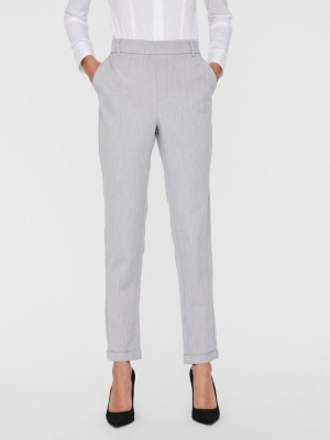 VMMAYA MR LOOSE SOLID PANT NOO Light Grey Mela