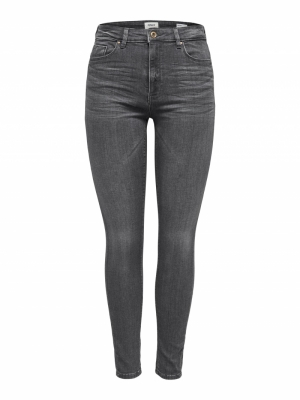 ONLPAOLA HIGHWAIST SK JEA BB A Grey Denim