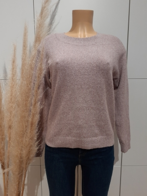 VMDOFFY LS O-NECK BLOUSE GA NO Woodrose/MELANG
