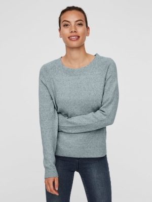 VMDOFFY LS O-NECK BLOUSE GA NO North Atlantic/