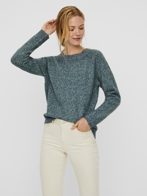 VMDOFFY LS O-NECK BLOUSE GA NO Pine Grove/W. W