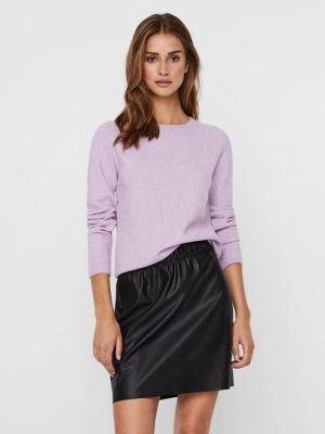 VMDOFFY LS O-NECK BLOUSE GA NO African Violet/