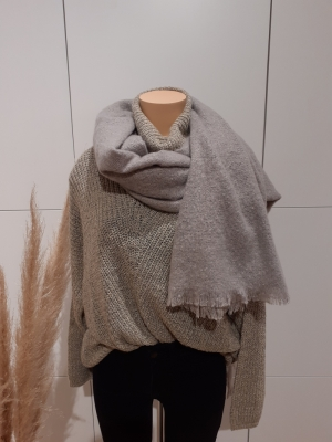 VMIDA LONG SCARF GA Light Grey Mela
