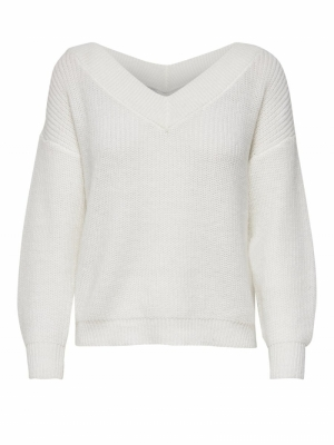 ONLMELTON LIFE L-S PULLOVER KN Cloud Dancer