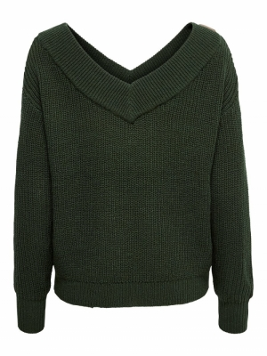 ONLMELTON LIFE L-S PULLOVER KN Forest Night