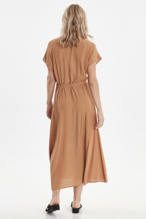 BYFATIMA LONG DRESS - Safari Brown