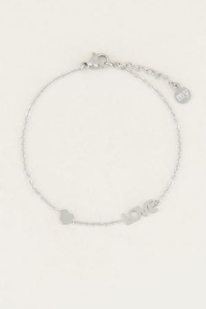 Armband met love en hartje logo