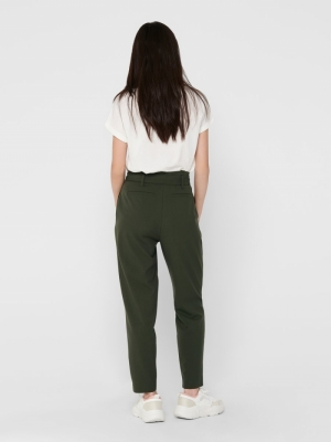 ONLNICOLE PAPERBAG ANKEL PANTS Forest Night