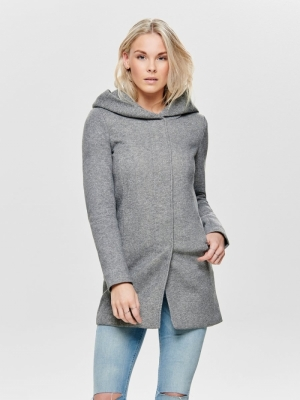 ONLSEDONA LIGHT COAT OTW NOOS Light Grey Mela