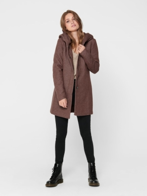 ONLSEDONA LIGHT COAT OTW NOOS Chocolate Fonda