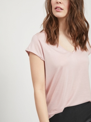 VISCOOP TOP - NOOS Pale Mauve