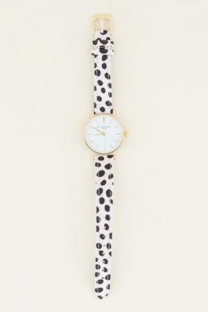 Cheetah horloge wit Goud ONESI goud