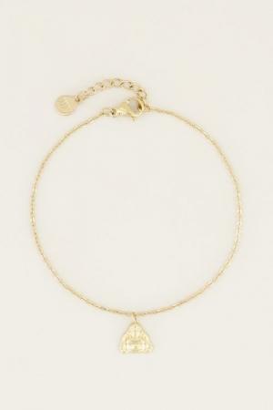 Moments bracelet buddha Goud O logo