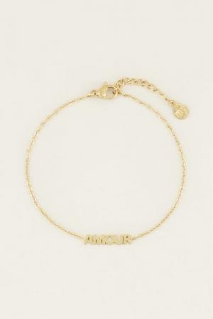 Moments bracelet amour Goud ON logo