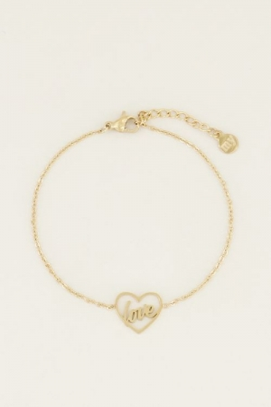 Moments bracelet love Goud ONE logo