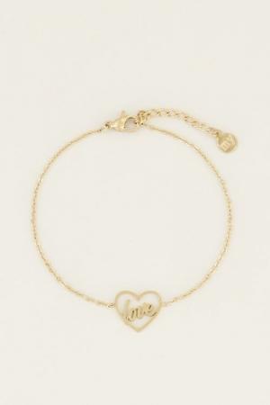 Moments bracelet love Goud ONE logo