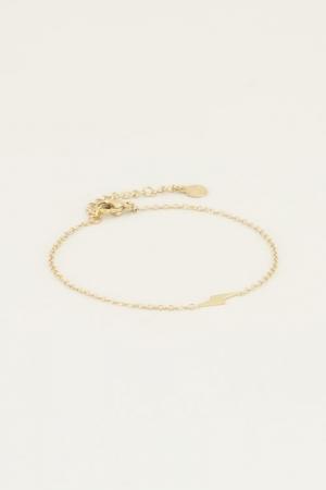 Armband bliksem Goud ONESIZE goud