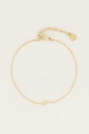 Armband bliksem Goud ONESIZE logo