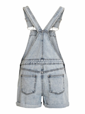 VIVALLERY DENIM PLAYSUIT Light Blue Deni