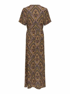ONLHANNA S-S ANCLE DRESS WVN Golden Spice/SP