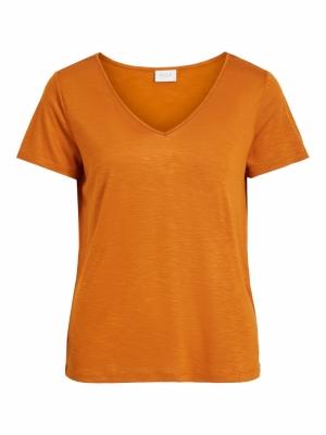 VINOEL S-S V-NECK T-SHIRT- FAV Pumpkin Spice