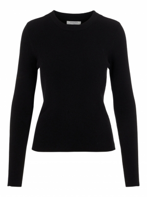 PCBASSY LS O-NECK KNIT Black