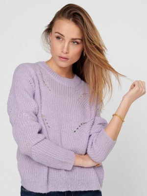 JDYNEWDAISY L-S STRUCTURE PULL Pastel Lilac
