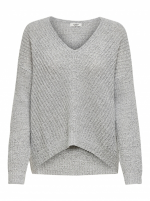 JDYNEW MEGAN L-S PULLOVER KNT Cloud Dancer/W.
