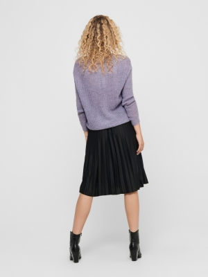JDYNEW MEGAN L-S PULLOVER KNT Lavender Gray/W