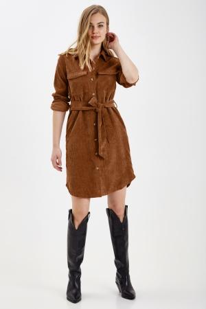 BYDARIAM DRESS - Brown