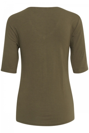 BYPHILICIA TSHIRT - Olive night