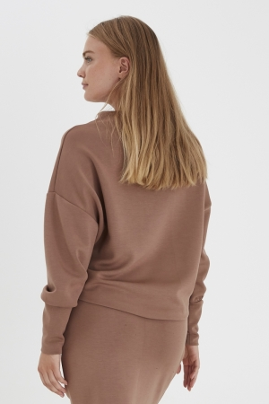 BYPUSTI PULLOVER 3 - Brown