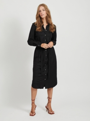 VISAFINA MIDI L-S DRESS - NOOS logo