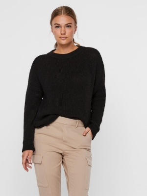 VMIMAGINE LS O-NECK BLOUSE VMA Black/SOLID