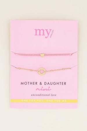 moeder & dochter armband mini goud