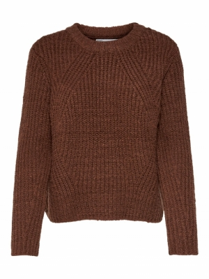 ONLFIONA L-S PULLOVER KNT NOOS Tortoise Shell/