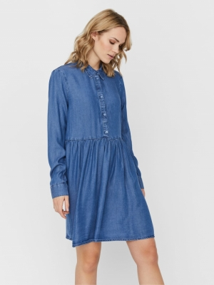 VMLIBBIE LS SHIRT DRESS GA COL logo