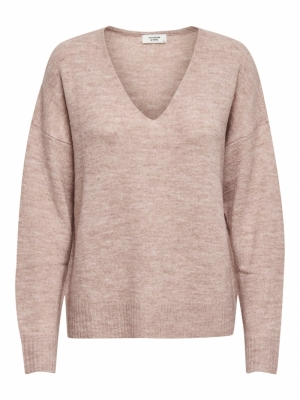JDYELANORA L-S V-NECK PULLO. K Adobe Rose/MELA