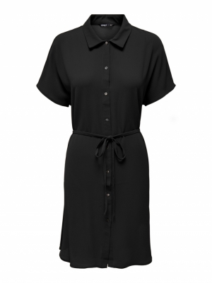 ONLNOVA LUX S-S SHIRT DRESS SO Black